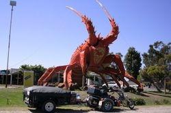 Triker & Camper at the Big Lobster at Kingston