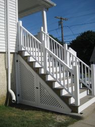 After new staircase with under storage access