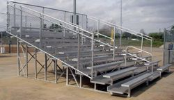 10 Row Aluminum Bleachers