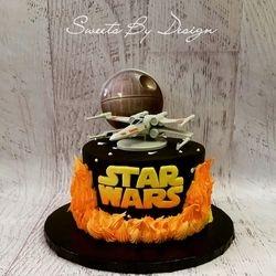 Star Wars X-Wing Cake