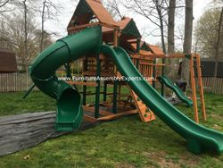 Gorilla empire extreme playset installation in Waldorf Maryland
