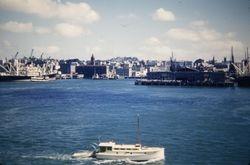 Auckland City skyline 1956