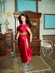 Red Goddess dress for Steven T.