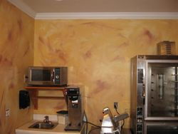 Wall Finish in the Pizza Shop