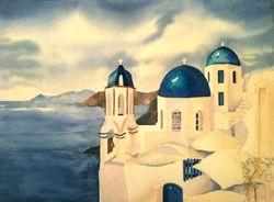3 Domes of Santorini