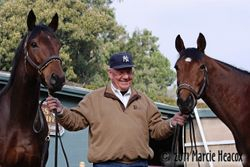 Jim Cassidy and his two Cal-bred Stars