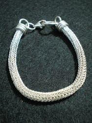 Silver Viking Knit Bracelet