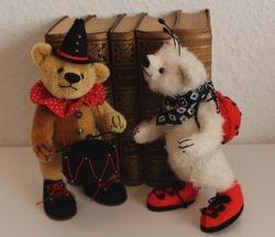 Glückskäferbär Felix und Rudi der Trommler