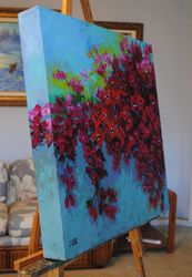 Side 2 of a Bougainvillea painting.