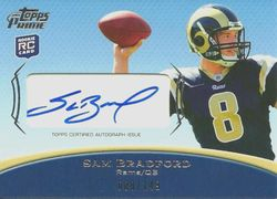 2010 Topps Prime Sam Bradford Auto #'ed to his Jersey 8