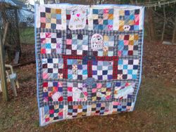 Nineteenth: A grown child's memory quilt