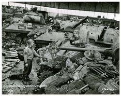 Tanks at the rebuild depot: