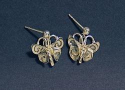 Butterfly with Swirls Earrings