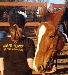 Willa and her winner shirt with her Winner, Ketana