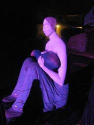 Sculpture at night