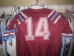Leroy Rosenior's worn sub shirt vs Botafogo pre season 1991