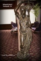 A statue in the Mizpah hotel lobby.