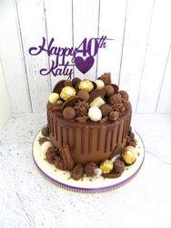 40th Birthday Drip Cake