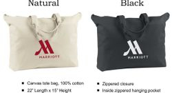 "Tote Bags, Canvas | 22"" L x 15"" H 