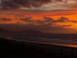 Paikakariki Beach at sunset