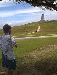 Matt at the Wright Brother's monument