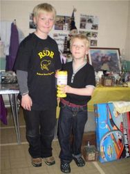 Joe and Tom wearing their RSDR Shirts