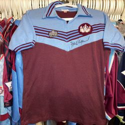 Frank Lampard home Admiral 1976-80 worn and signed shirt