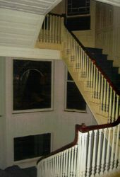 Elaborate bannisters grace the