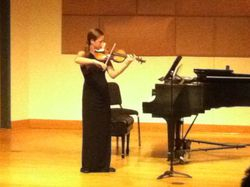 Abby Young playing Elegy and Flicker for solo violin