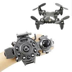 Rc Drone Mini Foldable Mode Quadcoter 4 channel Gyroscope Aircraft and Watch Remote Control