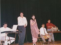 with Sadhna 1988