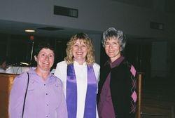 Sharon, Pastor Gaye and Donna
