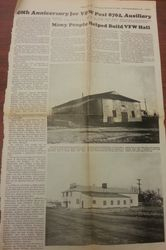 VFW Article 40th Anniversary 1986