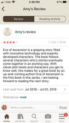 Amy Review of Eve of Ascension