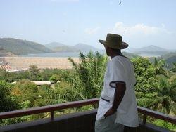 overlooking the Akosombo dam