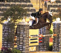 Theo rocking at Pony Jumper Championships