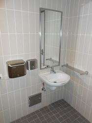 Disabled toilet handbasin