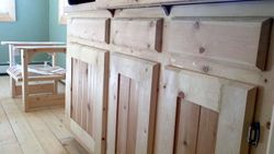 custom pine and cedar cabinets
