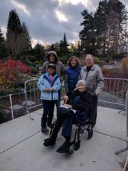 Friends and family at Bellevue Botanic Garden
