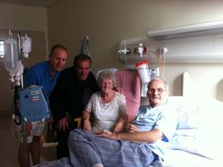 Bobby Moncur meets patients in the RVI