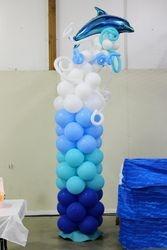 Ocean theme balloon column