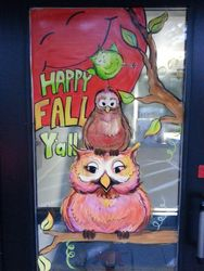 Whoo Gives A Hoot ;) Owl Window Mural