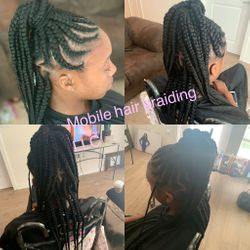 Feed-in cornrows completed in Fairfax, VA