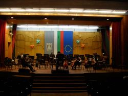 VC in rehearsal with the Pleven Philharmonic