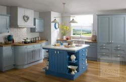 CROWN MIDSOMER PAINTED OAK BLUE & PALE BLUE SHAKER STYLE