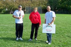 Ralph Pot, VP of Beacon, and organizer of the Tournament, with Terri VandenDool and Brother in law Rob VandenDool