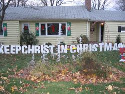 Keep Christ in Christmas Sign