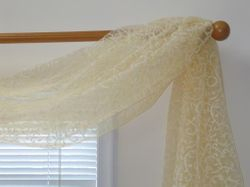Leaf Flocking Sheer 6-yard Scarf Valance (Item # SF42268-53)