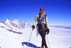 Sue climbing Allallinhorn