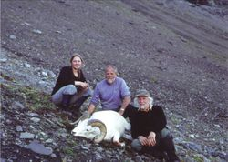 Larry Stoewer and his ram